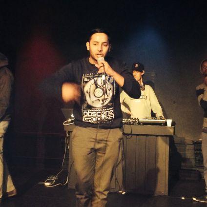 Falcone performing at Drop XVI
