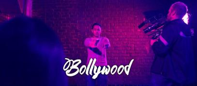 Falcone on set for his BollyWood Music Video shoot